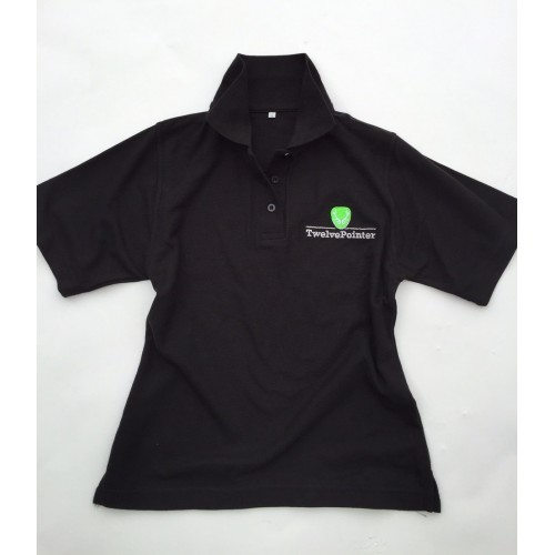 twelvepointer damen polo shirt schwarz 24 90. Black Bedroom Furniture Sets. Home Design Ideas