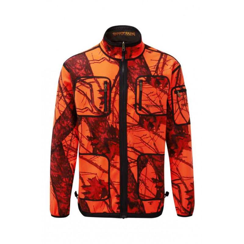 SHOOTERKING Softshelljacke Herren Mossy CamouflageBraun