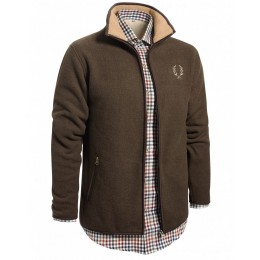 Chevalier Herren Fleece Cardigan Mainstone Braun