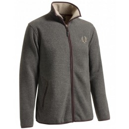Chevalier Herren Fleece Cardigan Mainstone Grau