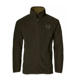 CHEVALIER Mainstone Herren Fleece Cardigan grün melange  XL