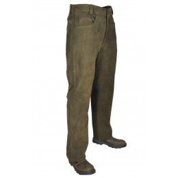 Hubertus 5-Pocket Lederhose Trapper 56