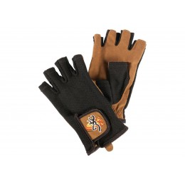 Browning Mesh Back half Shooting Gloves Tan Black