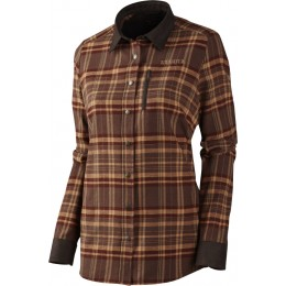 Härkila Pajala Lady Shirt Burgundy Check