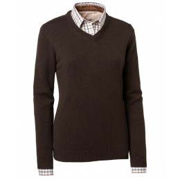 Chevalier Gaby Pullover w patches braun