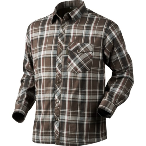 Seeland Vick Shirt Faun Brown sheck