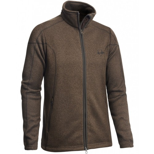 Chevalier Herren Cardigan Chester Fleece Braun