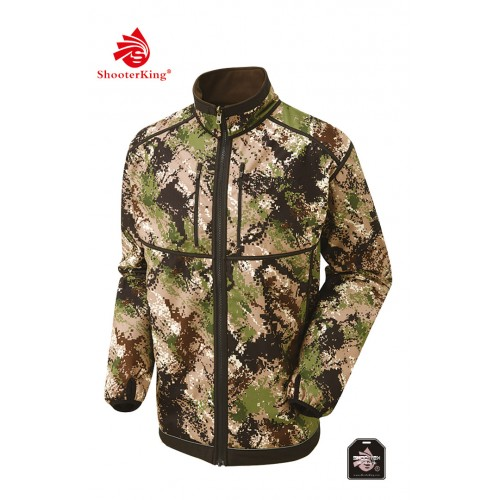 Shooterking Herren Softshelljacke DIGITEX Green/Brown 4XL