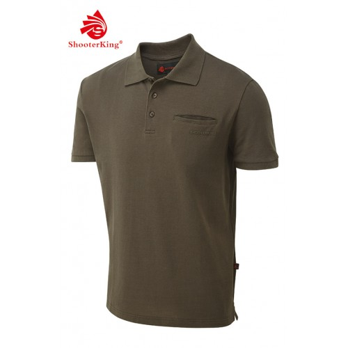 Shooterking Game Polo Shirt braun