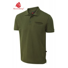 Shooterking Game Polo Shirt grün 4XL