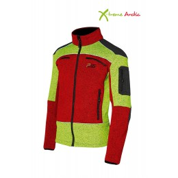 PSS X-Treme Faserstrickjacke rot/gelb