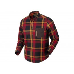 Härkila Amlet Hemd Herren Red/Black check XL