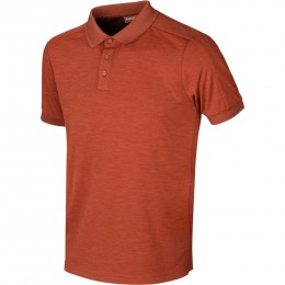 Härkila Tech Poloshirt Dark burnt orange