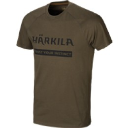 Härkila Logo T-Shirt 2er Pack Willow green/Slate brown