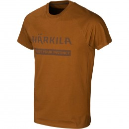 Härkila Logo T-Shirt 2er Pack Willow green/Rustique brown