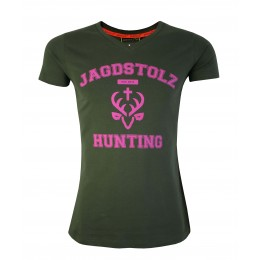 Jagdstolz Damen T-Shirt Girlie College Pink