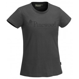 Pinewood Damen T-Shirt Outdoor Life Dunkel Anthrazit