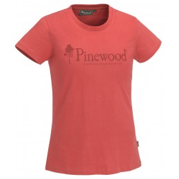 Pinewood Damen T-Shirt Outdoor Life Coral
