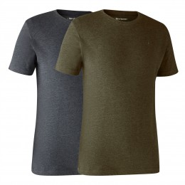 Deerhunter Herren T-Shirt Basic O-Neck 2-Pack Adventure...