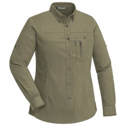 Pinewood Damen Bluse Tiveden TC Stretch Insect Safe Oliv